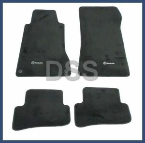 New Genuine Mercedes C class Carpeted Floor Mats Anthracite Black Oem Q6680589