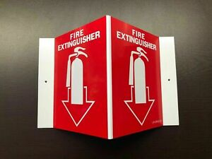 1 sign 5 X 6 3 d Rigid Plastic Angle fire Extinguisher Picture Sign