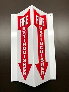 10 signs 4 X 12 3 d Rigid Plastic Angle fire Extinguisher Arrow Signs New