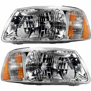 For Hyundai Accent 00 02 Headlights Headlamps Pair Set Of 2 Right