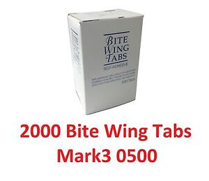 2000 Dental X ray Film Bite Wing Tabs Mark3 0500 Self adhesive Pressure Type Fda