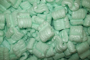 Packing Peanuts Loose Fill Anti Static Green 20 Cubic Feet 150 Gallons Brand New