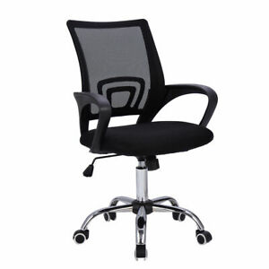 Modern Mesh Mid back Office Chair Computer Desk Task Ergonomic Swivel Black New
