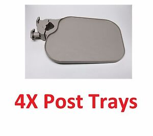 4x Tpc Us100 Post Mounted Utility Pole Post Tray Shelf Table Dental Medica Beige