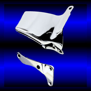 Chrome Alternator Brackets Fits Small Block Chevy 350 383 400 Engines Long Wp
