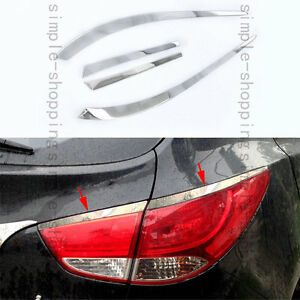 4pcs Rear Taillight Lamp Eyelid Cover Trim Strip For Hyundai Tucson Ix35 10 2012