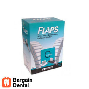 Flaps Dental X ray Film Digital Sensor Cushioned Bite Tabs 500 Tabs fda