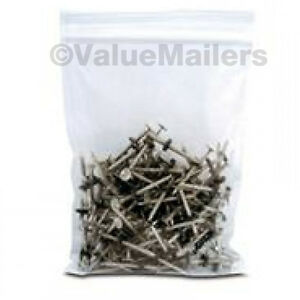 1000 5x8 Clear Plastic Zipper Poly Locking Reclosable Bags 4 Mil