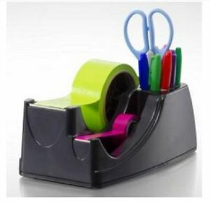 Dual 2 in 1 Heavy Duty Weighted Tape Dispenser Holder recycled Double 2