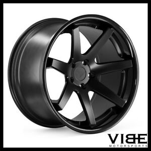 20 Ferrada Fr1 Black Concave Wheels Rims Fits Jaguar Xkr