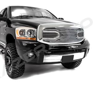 Front Hood Chrome Big Horn Grille Replacement Shell For 06 09 Dodge Ram 2500 350