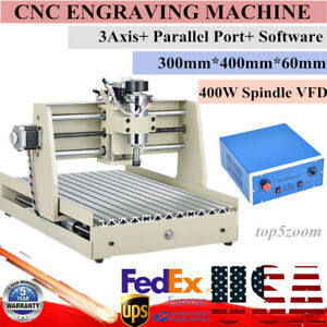 3040 400w 3axis Engraver Cnc Router Engraving Desktop T screw Carving Machine Us