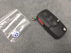 1998 2002 Volkswagen Flip Key Remote Fob Shell Round Buttons Golf Beetle Jetta