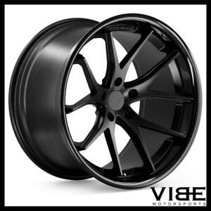 22 Ferrada Fr2 Black Concave Wheels Rims Fits Chrysler 300 300c 300s