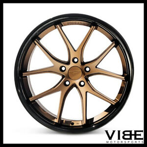 22 Ferrada Fr2 Bronze Concave Wheels Rims Fits Chrysler 300 300c 300s