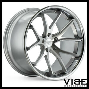 20 Ferrada Fr2 Silver Concave Wheels Rims Fits Ford Mustang Gt