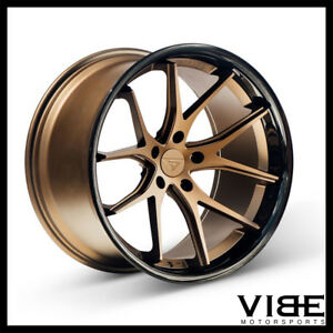 19 Ferrada Fr2 Bronze Concave Staggered Wheels Rims Fits Acura Tl