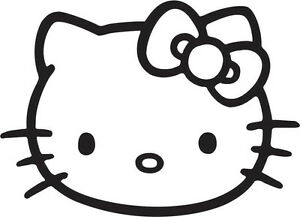 Hello Kitty Face With Bow Vinyl Decal Free Shipping 6 Inch For Indoor Outdoor