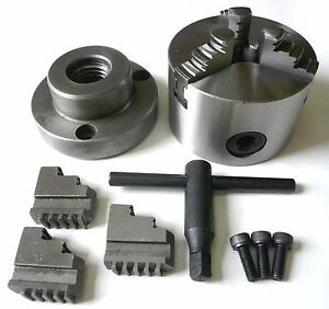 Precision 3 jaw X 3 Self centering Metal Lathe Chuck With 1 8 Back Plate New