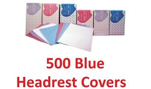 500 Headrest Covers Disposable Dental Tattoo Blue Tissue Poly Winner Pb11 10 x10