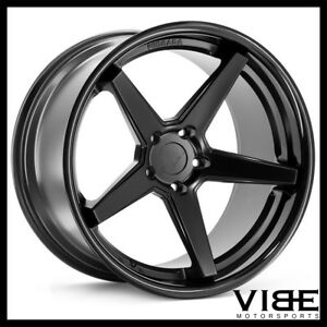 19 Ferrada Fr3 Black Concave Wheels Rims Fits Ford Mustang