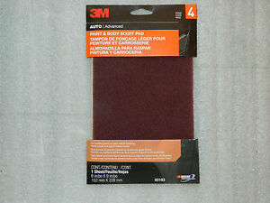 1 2 3 4 Or 5 3m 03193 6 X 9 Paint Body Scuff Pad Sand Paper Cleaning Pad