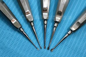 German 5 Pcs Assorted Dental Surgery Extracting Wing Winged Tip Elevator blue