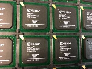 Lot Of 5 New Xilinx Xcv200 5fg456c Virtex 2 5v Fpga 456 Bga