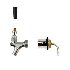 Beer Tower Shank With Chrome Plated Brass Faucet Kegerator Draft Beer Supplies