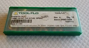 Tool Flo Tnmc 32 Nt 12p Stub Gp50c New Carbide Inserts 9 Pcs