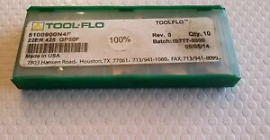 Tool Flo 22er 425 Gp50f New Carbide Inserts 6 Pcs
