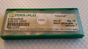 Tool Flo 22nr 428 Gp50f New Carbide Inserts 8 Pcs