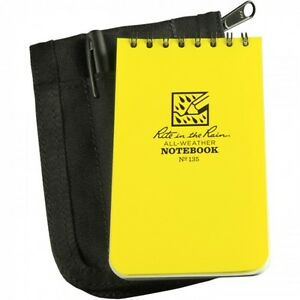 Rite In The Rain 135b kit Universal Pocket Notebook Kit With Black Zippered Cov