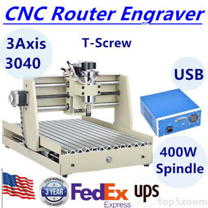 Usb 3 Axis 3040 Cnc Router Engraver Engraving Drilling Milling Carving Machine