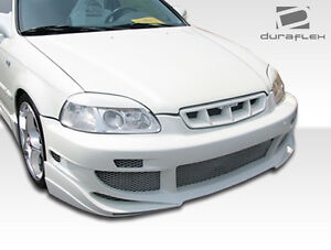 96 98 Honda Civic Duraflex Avg Front Bumper 1pc Body Kit 101732