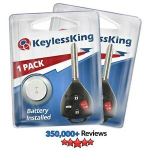 2 Replacement For 2010 2013 Toyota Corolla Key Fob Keyless Entry Car Remote