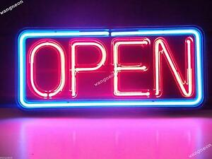 Open Business Store Window Door Neon Sign Real Glass Hand blown Fast Shipping