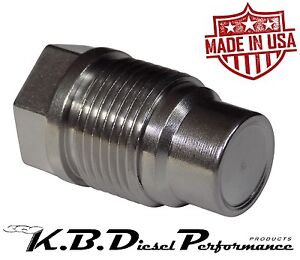 Race Fuel Rail Valve Plug For Chevy Gmc 6 6l Duramax 08 12 Dodge 6 7l Cummins