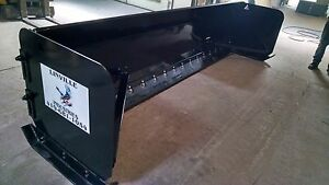 Linville 10 Floating Sectional Triple Edge Snow Pusher Plow Backhoe Skid Steer