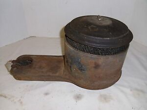 1957 Chevrolet Oil Bath Air Cleaner Gm Filter Chevy Original 6 Cylinder