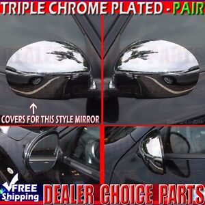 For 2011 2012 2013 2014 Nissan Juke Triple Chrome Mirror Covers Overlays