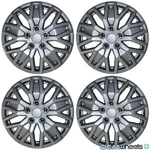 4 New Oem Silver 15 Hub Caps Set Fits Volkswagen Vw Car Abs Center Wheel Covers