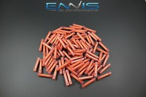 18 22 Gauge Nylon Butt Connector 500 Pk Crimp Terminal Red Awg Ga Car Suv