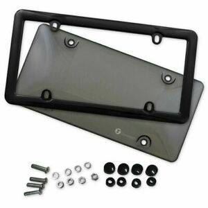 Zone Tech Tinted Smoked Tag License Plate Shield Cover And Frame Truck Car