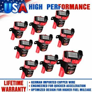 8 Red High Performance Ignition Coils Pack For Gmc Chevy C1251 D585 4 8 5 3 6 0l