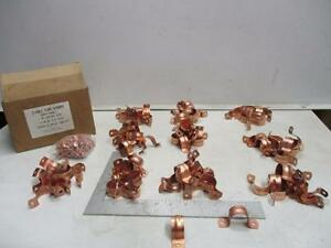 A440 1 Copper 2 Hole Pipe Straps With Nails lot Of 100 New