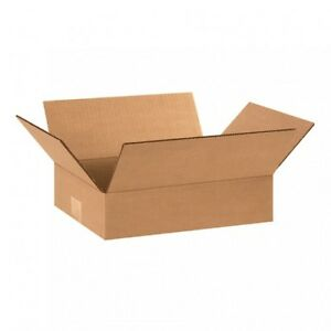 50 12x9x2 Cardboard Shipping Boxes Flat Corrugated Cartons