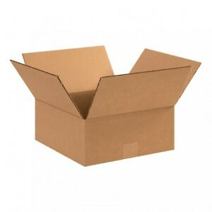 100 12x10x5 Cardboard Shipping Boxes Flat Corrugated Cartons