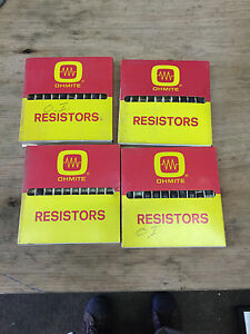 Lot Of 4 Boxes Ohmite Resistors 8 Watts 2000 1000 Ohms 40 Total