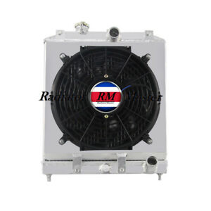 Aluminum Radiator For 1992 2000 Honda Civic 3row Shroud Fan 93 94 95 96 97 99